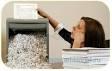 Уничтожение документов своими руками